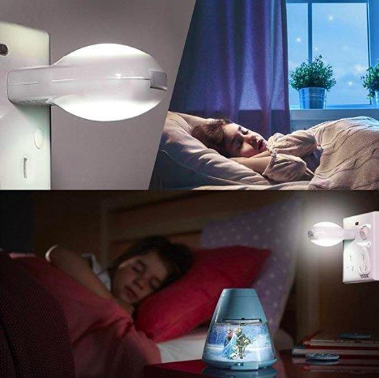 LED Nachtlampje met sensor | Wit | Economisch | Duurzaam |Nachtlamp | Kinderlamp | Stopcontact lamp | Slaapkamer | Met Dag/Nacht Sensor