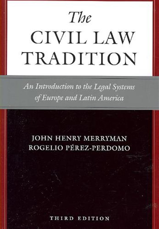 The Civil Law Tradition, 3rd Edition - John Henry Merryman