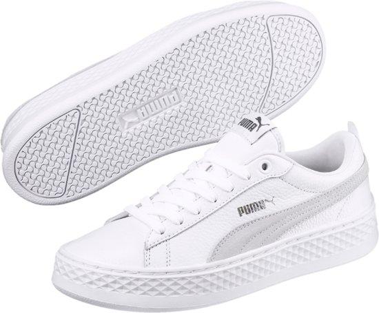 3c8a93fe5d4 Puma Smash Platform L Sneakers - Maat 40 - Vrouwen - wit zilver