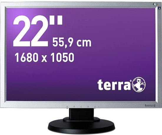 Wortmann AG Terra 2230W PV, Greenline Plus LED display 55,9 cm (22'') WSXGA+ Zwart, Zilver