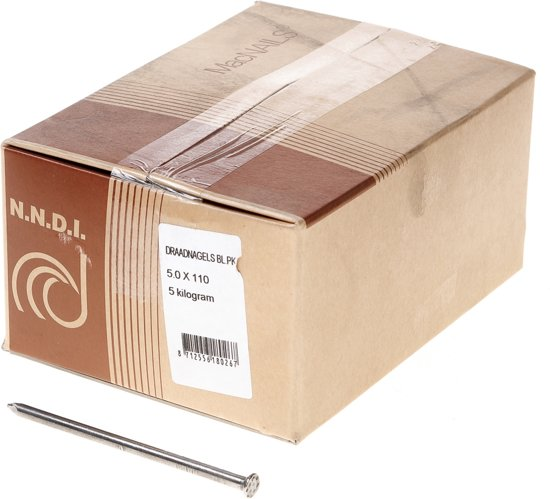 Van der Loo Draadnagel platkop blank 5.0 x 110mm 5kg
