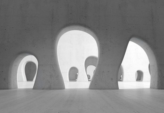 Fotobehang Abstract Modern Architecture | M - 104cm x 70.5cm | 130g/m2 Vlies