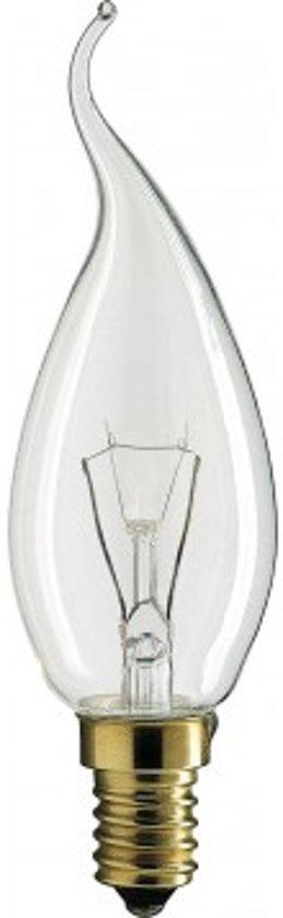 Gloeilicht Kaarslamp Bended Tip E14 40W 230V Helder - 6 stuks