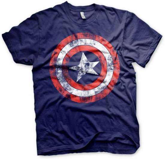 Fun t-shirt Captain America schild heren L