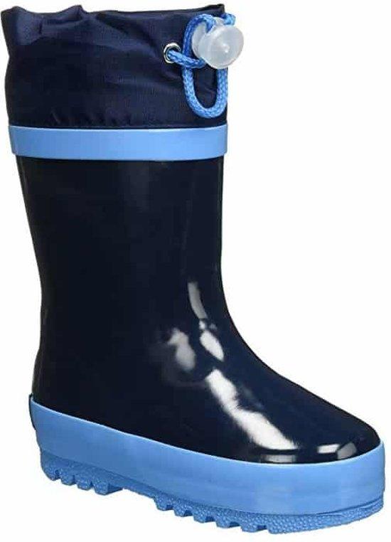 Playshoes Regenlaarzen met trekkoord Kinderen - Donkerblauw - Maat 26-27