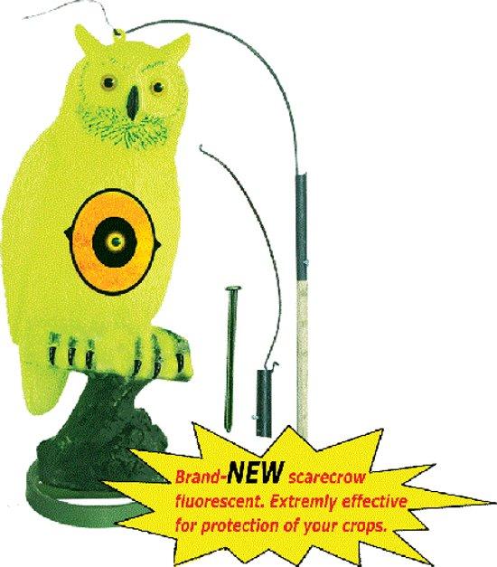 Vogelverjager - Plastic fluo uil