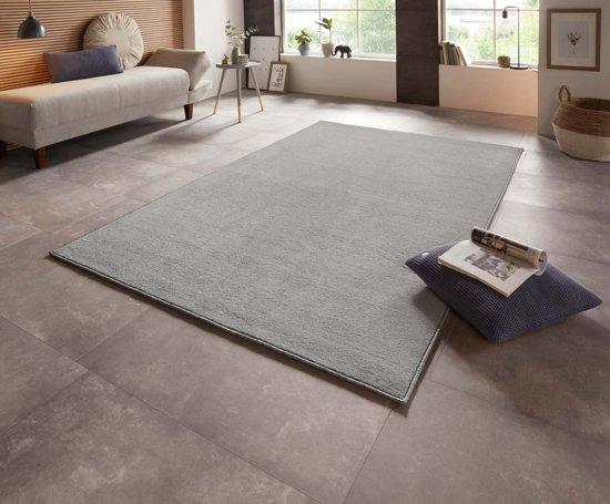 Effen vloerkleed Bare - grijs 140x200 cm