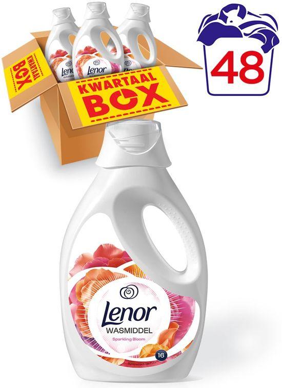 Lenor vloeibaar wasmiddel Sparkling Bloom - Kwartaalbox 48 Wasbeurten - Wasmiddel