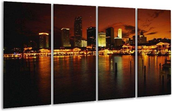 Glasschilderij Gebouw | Oranje, Bruin, Zwart | 160x80cm 4Luik | Foto print op Glas |  F002839