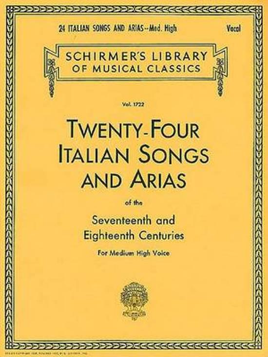 Afbeelding van Twenty-Four Italian Songs & Arias Of The 17/18th Centuries - Medium-High Voice