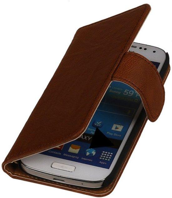 MP Case Bruin Samsung Galaxy Core 2 Lederen Booktype Wallet Hoesje in Westeremden