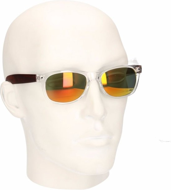 1d25023f587e1d Houtlook Clubmaster heren zonnebril geel model 7112