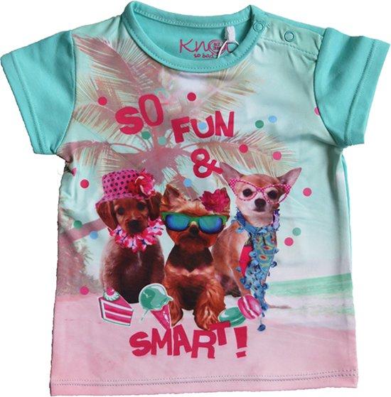 Babykleding Meisje Maat 80.Bol Com Knot So Bad Babykleding Meisjes T Shirt Fun Groen Maat 80