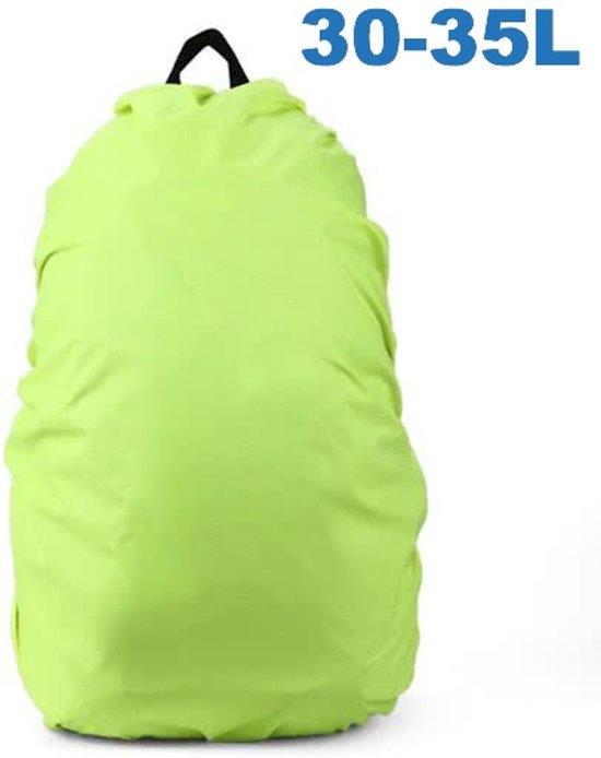 010e9457048 Flightbag Regenhoes Waterdicht voor Backpack Rugzak - 30-35 Liter Regenhoes  – Groen
