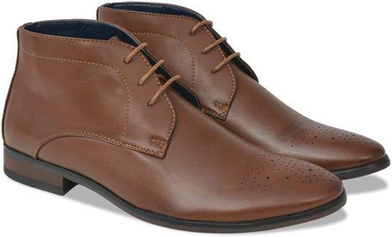 Vidaxl Chaussures Marron Avec Les Hommes Lacer c9gcag2