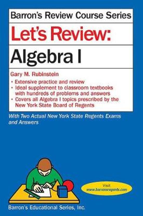 Boek cover Lets Review Algebra I van Gary M. Rubinstein (Paperback)
