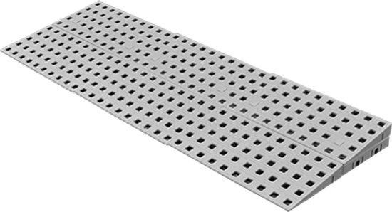Drempelhulp Binnen - Set 2 - 3,8 tot 5,4 cm (H) x 75 cm (B) - Verstelbare Oprijplaat / Drempelplaat - Oprijhelling