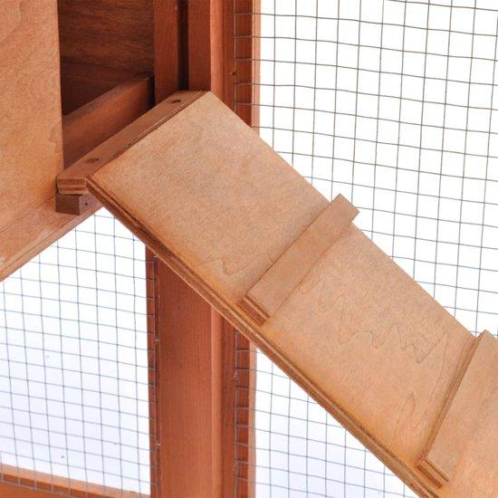vidaXL Konijnenhok voor buiten - 140 x 46 x 85 cm - Bruin