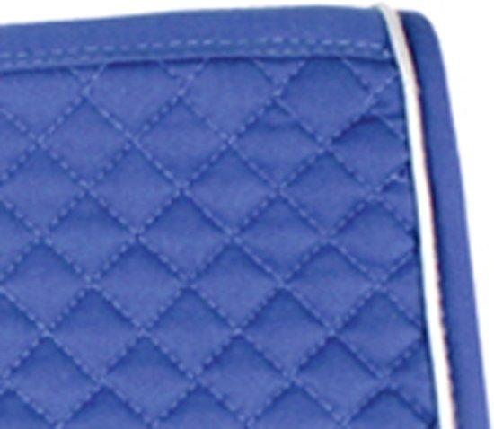 Zadeldek fijn gestikt, veelzijdigheid middelblauw/zilver Cob/Full