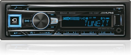 Alpine CDE-193BT Bluetooth Zwart autoradio