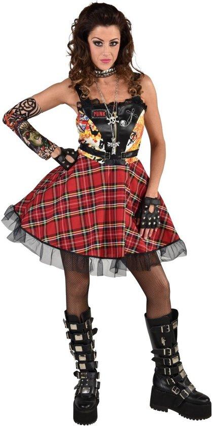 Punk & Rock Kostuum | Joanna Rotten Punk Muziek | Vrouw | Large | Carnaval kostuum | Verkleedkleding