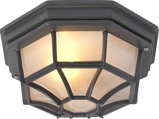 QAZQA Bri - Plafondlamp - 1 lichts - Ø 285 mm - Antraciet