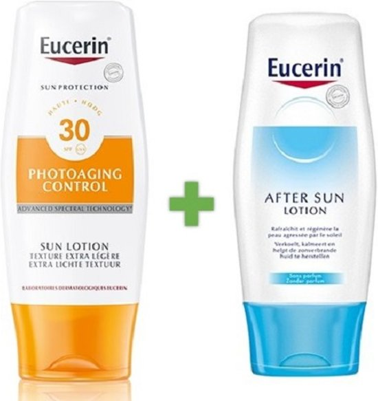 Eucerin Photoaging Control Sun Lotion Extra Light SPF30 & After Sun Lotion Promopakket