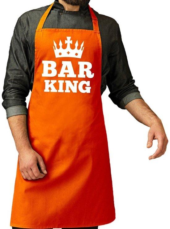 ebb3b0ad63a Oranje Bar King keuken schort heren - Oranje Koningsdag / Orange supporter  accessoires One size