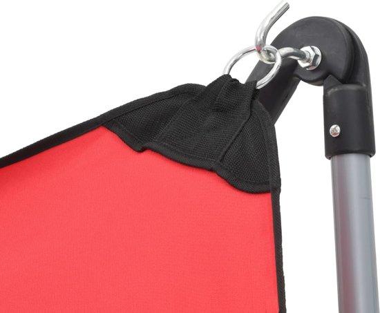 vidaXL Hangmat met inklapbare standaard rood