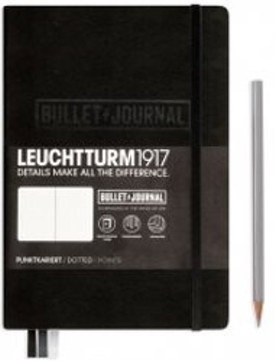Leuchtturm1917 Bullet Journal notitieboek medium A5 zwart