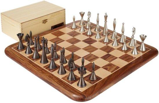 Afbeelding van het spel Art Deco Schaakset, figuren, opbergbox & bord