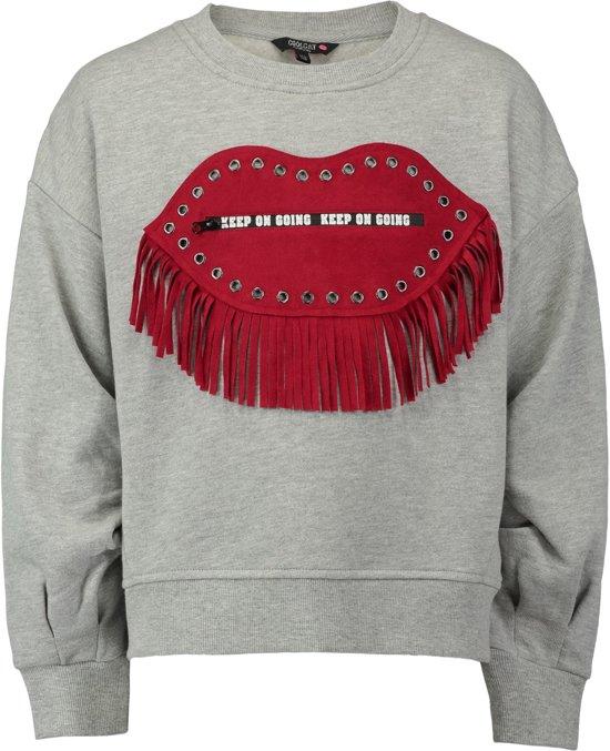 a86374f93dfdd5 Coolcat Trui Sweater Dsleeves - Licht Grijs Melange - 122 128