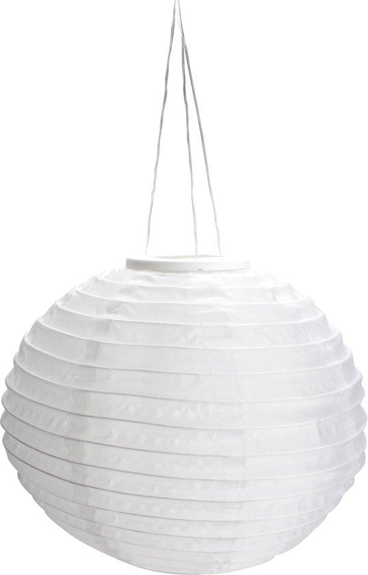 TUINPAKKET: Solar Lampionnen, tuinverlichting op zonne energie. Pakket aanbieding 5 witte lampionnen van 30cm