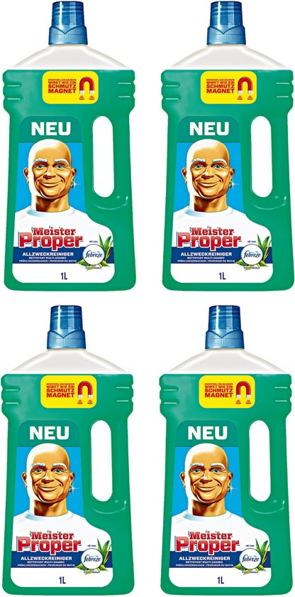 Mr Proper Allesreiniger Groen Met Febreze 4 x 1 Liter