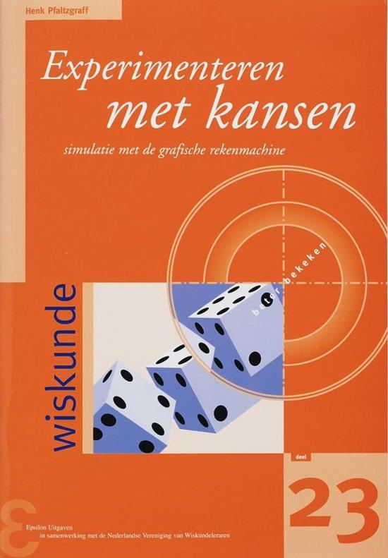 Boek cover Zebra-reeks 23 - Experimenteren met kansen van Henk Pfaltzgraff (Paperback)