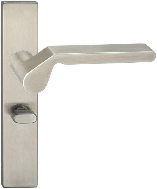 Impresso Boston Deurbeslag - Voor binnen - Vierkant deurschild met toiletsluiting - RVS