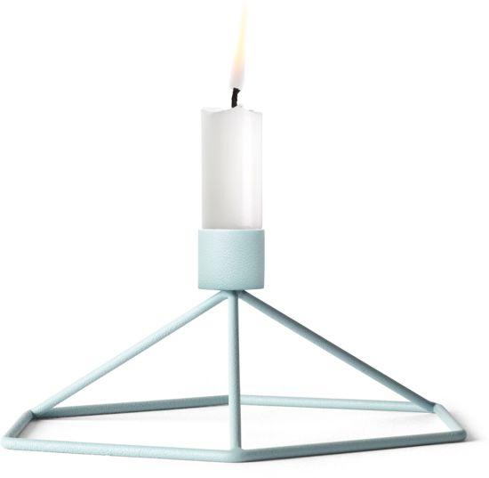 Menu POV Table kaarsenstandaard lichtblauw