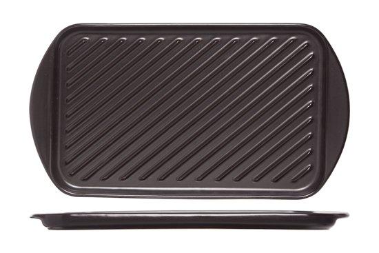 Cosy & Trendy Grillschotel - Aardewerk - 40.5 cm x 22.5 cm x 2.1 cm - Zwart