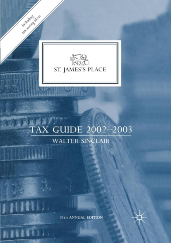 St. James's Place Tax Guide 2002-2003