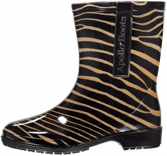 Halfhoge dames regenlaarzen zebra print 37