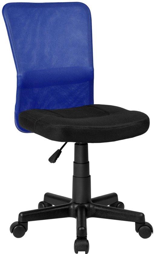 Bureaustoel Blauw Zwart.Bureaustoel Kantoor Design Blauw Zwart Nieuw 401794