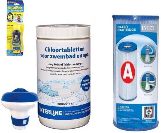 Zwembad starterspakket/chloortabletten pakket met a filter