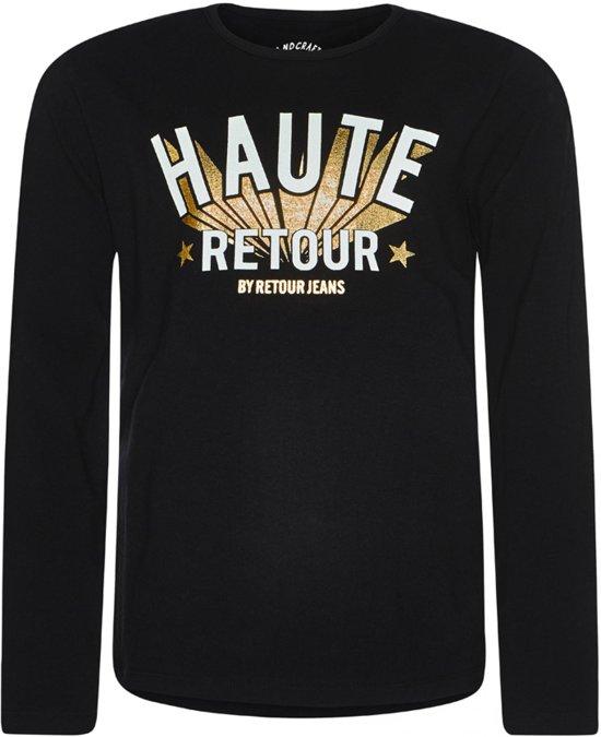 Retour Jeans Meisjes T-shirt - Zwart - Maat 152/158
