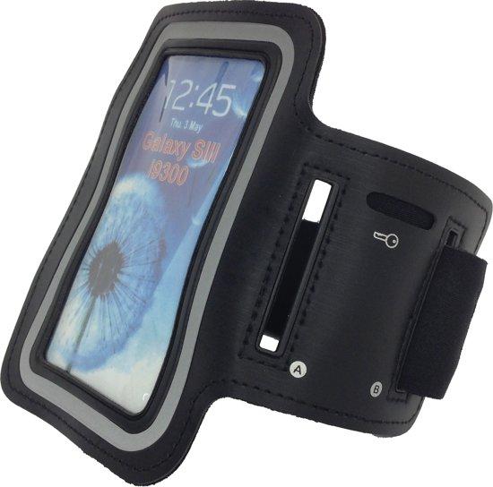 Tunturi Sport Telefoonarmband - Sportarmband - Hardloop armband - Smartphone armband Zwart