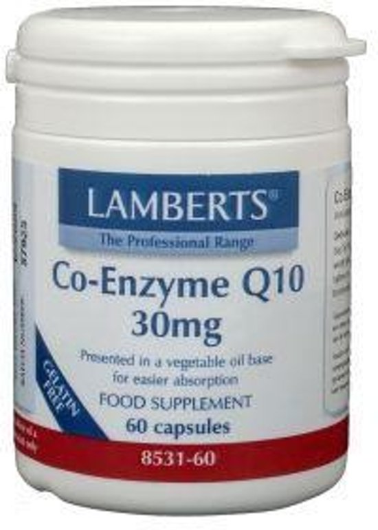 Lamberts Co-Enzym Q10 - 30 mg - 60 Capsules - Voedingssupplement