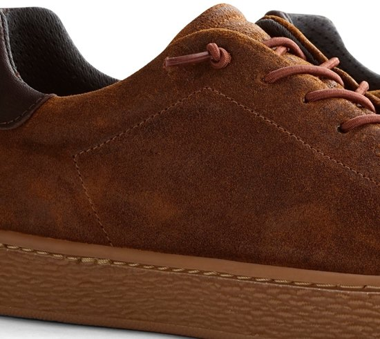 Nogrz 43 Brushed vancampen J Sneaker Heren Maat Cognac Leer FxUSPF
