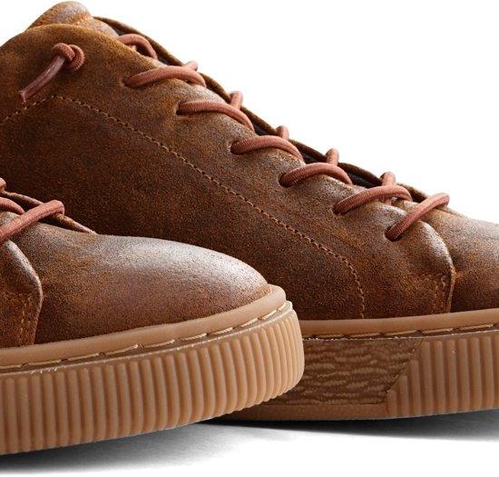 Leer 43 Heren Sneaker J vancampen Brushed Maat Cognac Nogrz OFqRXHw8n8
