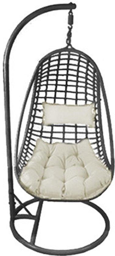 Design Hangstoel Binnen.Bol Com Egg Hangstoel Cocoon Design Zwart