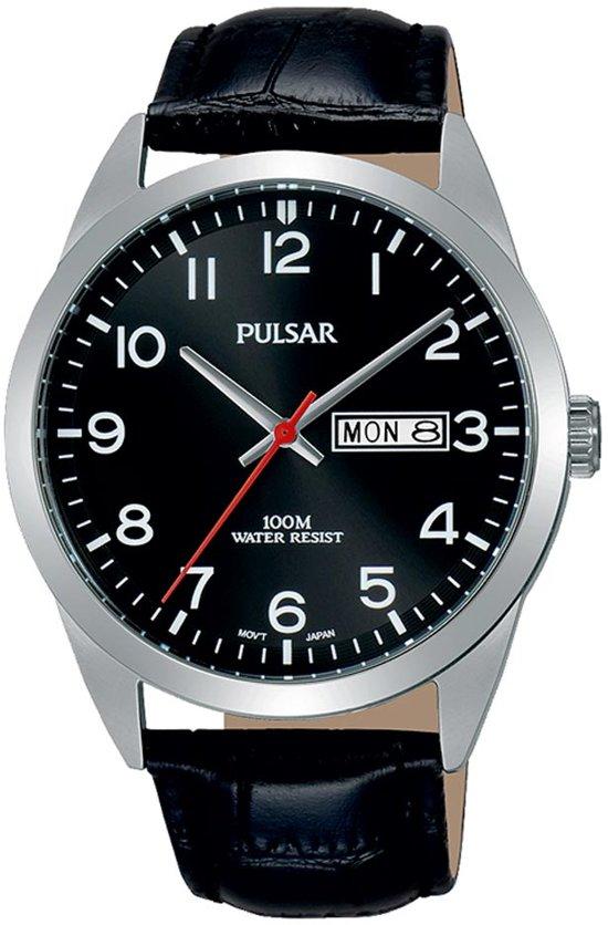 Pulsar PJ6067X1 horloge heren - zwart - edelstaal