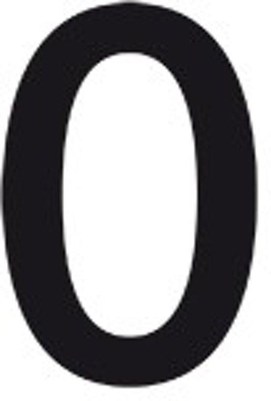 Cijfer stickers zwart teksthoogte: 100 mm